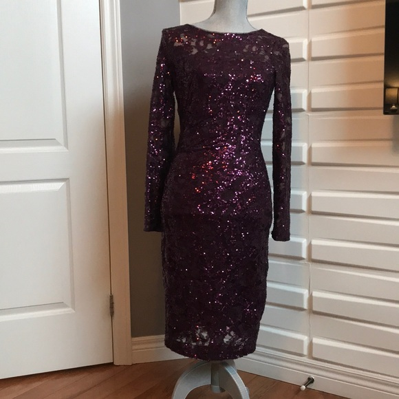 Ralph Lauren Purple Sequin Dress
